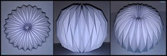 Accordion Ball Paper Folding Origami 2/2 (NeoSpica / NeoLiveArt) Tags: light geometric lamp ball origami box decoration shapes accordion structure sphere dome fold folding pleated pleating waterbomb