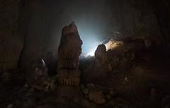 Cave from Mallorca (Marino DZ) Tags: longexposure light luz canon dark eos islands rocks time gotas cave mallorca islas cala baleares piedras cueva tiempo oscuridad haz estalactitas galera estalagmitas 70d 1020sigma