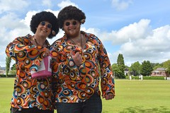 Psychedelic, Man! (Nikki & Tom) Tags: park charity uk pink colour wales fundraising fancydress cancercharity ammanford pinkribbonrace