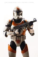 Clone Trooper (Aldo VC) Tags: portrait man scale toy soldier war gun weapon warrior tribute clone