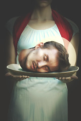 The Head of John the Baptist (kristyn_brown) Tags: people saint halo