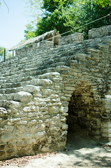 Coba ruins - Hidden entry way for performers (Sameer Bhadouria) Tags: vacation coba sameer sukrutha mexico2015