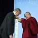 The Dalai Lama with NIH Director Dr. Francis Collins