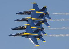 Blue Angels_9907 (Mike Head -Jetwashphotos) Tags: usa oregon america demo us or blues demonstration tight blueangels usn hillsboro hornets hio fa18 mdc unitedstatesnavy precise khio fa18c oregoninternationalairshow fa18d