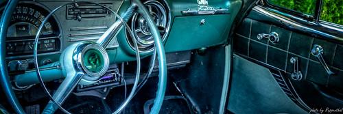 Inside of an older Pontiac Chieftain