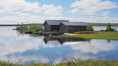 Rösjön (Jens Haggren) Tags: sky mountain lake water clouds reflections sweden olympus omd em1 fulufjället rösjön