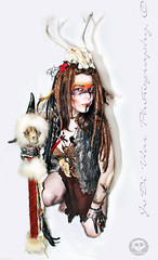 Soul Warrior (JoDi War) Tags: wild fashion dreadlocks hair skull model photoshoot cosplay native indian ceremony feather makeup horns style tribal nativeamerican staff weapon warrior strong strength tradition dreads shaman voodoo survivor sacrifice ceremoial