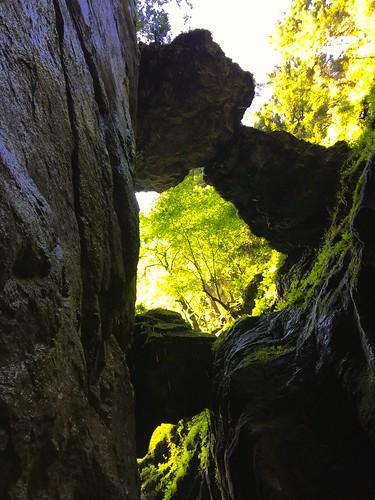 Breitachklamm in Tiefenbach bei Oberstdorf bzw. Kleinwalsertal. Alpe Dornach und die Oberstdorfer Bergwelt