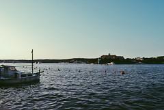 el moll de s'hospital (Alba Lyon) Tags: sea summer sky water port de boat mar barco blau islas aigua menorca baleares vaixell balears illes shospital vscocam