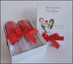Kit Duplo com Caricatura na caixa! (contato@mondy.com.br) Tags: lembrana casamento taas brinde madrinha pais noivado padrinho noivos personalizados noivinhos brases caixasparapresente