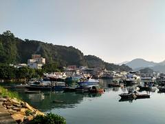Sam Ka Tsuen (huiaaron) Tags: lg v10 mobilephonephotography samkatsuen leiyuemun fishingvillage village seafood kowloon hongkong hongkongeast landscape