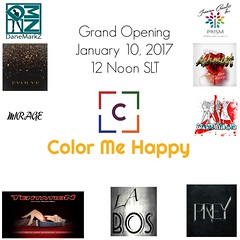Color Me Happy Event Grand Opening January 10, 2017 at Noon SLT (catsrage17) Tags: evolve tentation mirage danemarkz prismbyjezzixacazalet graffitiwear ashmoot labos prey tashi legendaire glshop qessentials popartstore