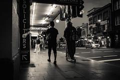 (bigboysdad) Tags: ricoh gr 28mm night nightlife bw blackandwhite monotone monochrome street