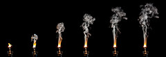 Smoke Sequence (yeates2) Tags: smoke bulb broken workshop canon40d sigma105mm smoking colour composite