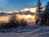 sun playing with the clouds (jonasschmidt1909) Tags: winter cold sun yellow olympus omd em10 sunset trees clouds snow sauerland wonderland