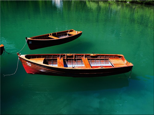 Boats on the Lake Braies
