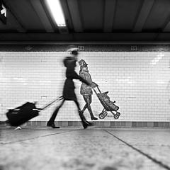 New York (ale neri) Tags: street bw aleneri metro subway motion nyc ny newyork manhattan streetphotography blackandwhite alessandroneri