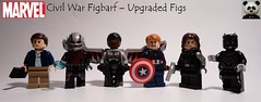 Civil War Figbarf – Upgraded Figs (Random_Panda) Tags: lego figs fig figures figure minifigs minifig minifigures minifigure purist purists character characters marvel comics superhero superheroes hero heroes super comic book books films film movie movies tv show shows television avengers civil war baron zemo antman falcon captain america bucky barnes winter the soldier black panther tchalla