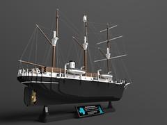 Shackleton's Endurance (papacharly24) Tags: shackleton endurance lego ldcad ldraw povray antarctic sir ernest henry render rendering ship