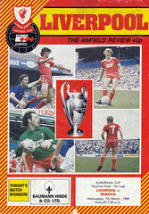 Liverpool vs Benfica - 1984 - Cover Page (The Sky Strikers) Tags: liverpool benfica european champions cup anfield the review official programme 40p