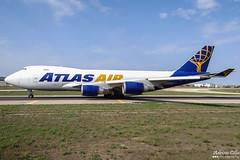Atlas Air --- Boeing 747-400F --- N496MC (Drinu C) Tags: adrianciliaphotography sony dsc hx100v mla lmml plane aircraft aviation freighter cargo 747 atlasair boeing 747400f n496mc