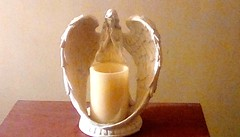 Angel (Maenette1) Tags: angel candle ceramic christmas gift menominee uppermichigan flickr365