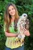 Me and the baby eagle :) <3 (Ingrid Nagy) Tags: profile bird eagle brown white hair face girl people person animal green yellow nature baby aquila heliaca imperial endangered wings feathers smile
