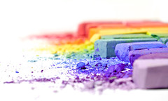 untitled (brescia, italy) (bloodybee) Tags: 365project chalk powder rainbow colors white stilllife macro