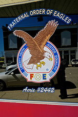 Eagles Lodge #2442, Shoals, IN (Robby Virus) Tags: shoals indiana eagles lodge fraternal organization foe order building sign signage window aerie 2442