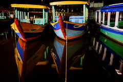 Boats at night @ Hoi An (Vietnam) (PaulHoo) Tags: hoi an vietnam color colour colorful boat reflection asia 2016 water contrast vibrant fujifilm x70