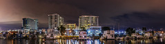 channel street houseboats (pbo31) Tags: sanfrancisco california nikon d810 color night dark black boury pbo31 february 2017 winter city missionbay orange structure architecture contemporary apartment reflection missioncreek houseboat skyline urban over panorama large stitched panoramic