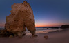 The Walking Rock (Adam West Photography) Tags: adamwest algarve glow portugal topaz afterglow beach cliffs goldenhour limestone reflections rocks sand sea stack sunset