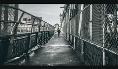 ComeBack (∤ Esther ∤) Tags: sky city sunset street river travel blue light urban architecture cityscape lights motion bridge ny new york building scene black white canon manhattan scenery wide angle photography