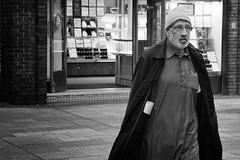 New Irish (Frank Fullard) Tags: frankfullard fullard candid street dublin irish ireland blackandwhite streetportrait cap beard coat smock visitor imigrant newirish