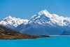 True Blue (Mark Hannah Photography) Tags: mtcook aoraki canterbury southisland lakepukaki newzealand morning sunny lake landscapephotography clearsky bluesky mountains turquise water calm snow holiday paradise sunshine valley alpine flatwater nature clean tourism natural adventure hiking travel