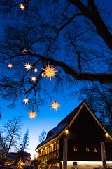 yellow star (marcuslange) Tags: ausspanne christmas weihnachten chemnitz sachsen saxony deutschland germany street stars sterne bluehour blauestunde vsco vscofilm eos5dmarkiii canon streetphotography