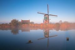 20161009-Canon EOS 6D-0236 (Bartek Rozanski) Tags: driebruggen zuidholland netherlands holland nederland greenheart groenehart nature water river channel morning dutch windmill wipmolen oukoop reflection