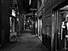 """Shadows"" (giannipaoloziliani) Tags: shadows genova blackandwhite street night suburbs italy caruggi alleysofgenoa vicoli vicolidigenova city genoa downtown shops people flickr"