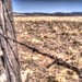 Pinhole HDR barbed wire fence