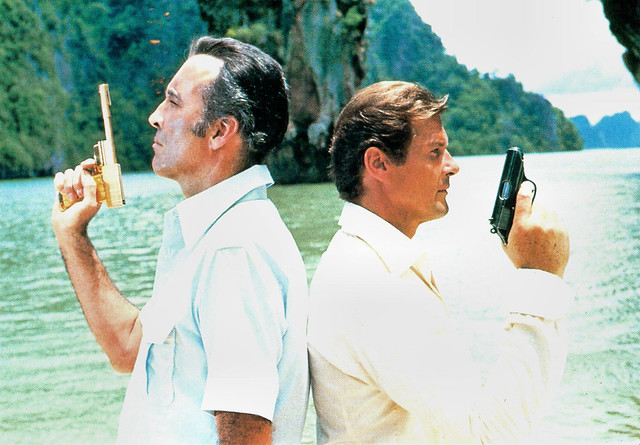 Christopher Lee and Roger Moore in The Man with the Golden Gun (1974)
