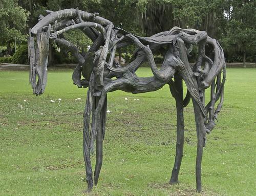 Restrained, Deborah Butterfield, 1999, Sculpture Garden, New Orleans ...