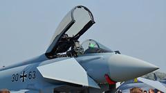 Eurofighter Luftwaffe 30+63 (Karpik :)) Tags: plane aircraft airshow eurofighter typhoon jetfighter luftwaffe nikkon germanairforce 3063 ef2000 epra d3100