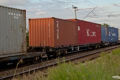 92613 Kingsthorpe 250615 (Dan86401) Tags: wagon northampton flat container fl 92 freight triton modal rls kingsthorpe kline kfa freightliner intermodal wcml gerailservices railease 92613 wilsonscrossing standardwagon 4l73 rls92613