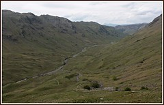 Langstrath valley. (stu.bloggs..Dont do Sundays) Tags: trees summer mountains scale june walking landscape evening rocks stream hiking path lakedistrict hills valley cumbria fells scree winding distance lakeland steep slopes windingpath langstrath borrowdalefells rockyoutcrops langstrathbeck