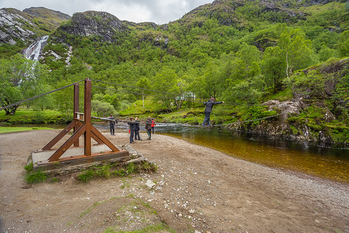Steall Falls and the wire rope bridge - Glen Nevis - a photo on ...