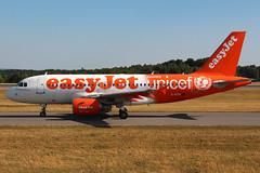 G-EZIO (Thomas Theisen) Tags: unicef airport airbus luxembourg takeoff easyjet a319 findel specialpaint