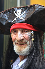 Unofficial Pirate Day Hastings 2015: Ol' Sea Dog (pg tips2) Tags: street costumes portrait people face hat closeup portraits beard fun sussex coast costume community harbour folk pirates full pirate hastings fullframe upclose skullcrossbones 2015 pirateday justlikearollingstone