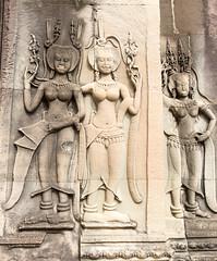 Angkor Wat Apsaras (Rambo2100) Tags: ancient cambodia khmer dancer carving unesco siemreap angkor apsara worldheritage khmerrouge polpot suryavarmanii អង្គរវត្ត rambo2100 ទេពអប្សរ