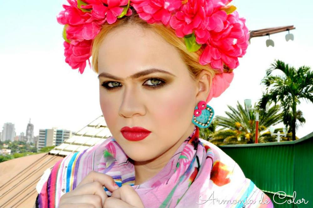 Maquillaje Frida Kahlo 2