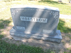 Lakeview Cemetery, Windom, Minnesota / My grandparents headstone: Ebba M Hofstrom (1884-1987, Charles O. Hofstrom (1872-1957)